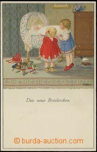 62763 - 1920 EBNER P.: Play with bratříčkem, lithography, issued