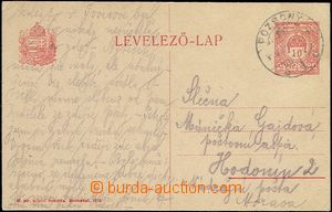62767 - 1919 CPŘ33, Hungarian PC 10f, CDS Pozsony 919.Jan.27., post