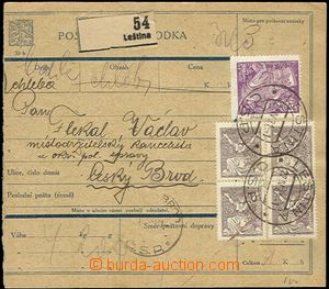 62776 - 1921 CPP4A  Czech text, dispatch note without L cut with Pof