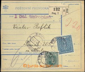62777 - 1919 CPP2A  Czech text, dispatch note without L cut franked
