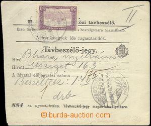 62788 - 1918 Hungarian telegraph order with 50f Parliament Mi.200, C