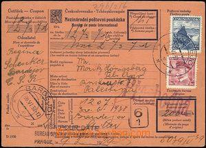 62793 - 1938 celá mezinárodní poštovní poukázka, prodejní cen