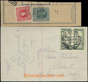62829 - 1918 postcard franked with. Austrian. express stamp. Mi.2x 2
