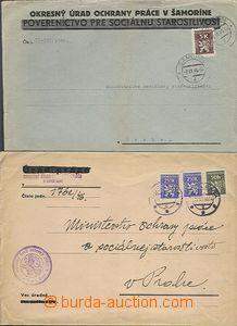 62840 - 1946 sestava 5ks úředních dopisů vyfr. služebními zná