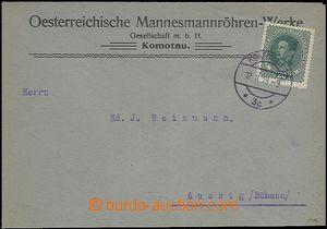 62852 - 1919 commercial letter franked with Austrian stmp Mi.222, CD