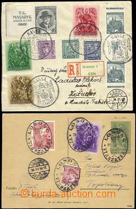 62875 - 1938 Reg letter with rich mixed franking Czechosl. and Hunga