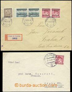 62878 - 1939 letter with Pof.352, CDS Polička 21.IX.39 and Reg lett