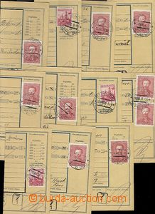 62929 - 1938 comp. 11 pcs of dispatch notes in/at Czech variety, use