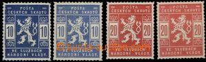 62992 - 1918 Pof.SK1-2 + SK1a-2a, mint never hinged, light shades ex