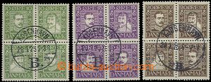 63015 - 1924 Mi.131-142 3x joined printings in blocks of four, whole