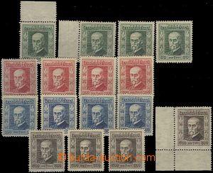 63110 - 1923 Pof.176-179 Jubilejní, sestava všech průsvitek P5-P8