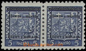 63143 - 1939 Pof.1, value 5h as Pr, stamp. R with plate variety lett