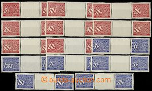 63149 - 1939 Pof.DL1-14M, detached 2-stamps gutters, mint never hing