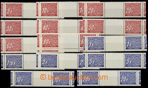 63150 - 1939 Pof.DL1-14M, imperforate 2-stamps gutters, mint never h