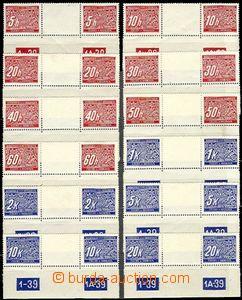 63228 - 1939 Pof.DL1-14M, complete set 2-stamps gutter with plate nu