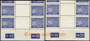 63229 - 1939 Pof.DL1-14M, complete set joined 2-stamps gutter, in pa
