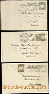 63343 - 1906 BAYERN (BAVARIA), comp. 3 pcs of private special PC to