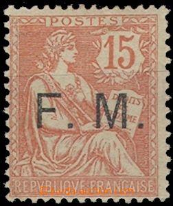 63404 - 1902 Mi.2, vojenská pošta, známka Mi.103 s přetiskem F.M