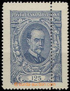 63427 -  Pof.140, 125h modrá I.typ, dvojitá perforace vpravo, zk.
