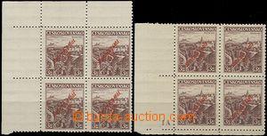 63460 - 1939 Alb.18 overprint 3CZK Bohemian Paradise, 1x upper corne