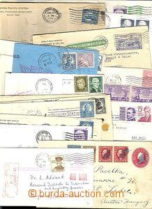 63491 - 1900-80 USA  sestava 20ks celistvostí vyfr. zn. s perfiny,