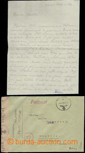 63508 - 1945 letter member Protectorate army, CDS Feldpost (Field-Po