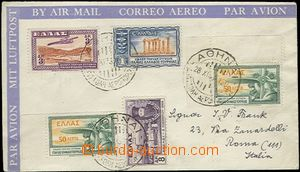63566 - 1933 airmail letter franked with. air stamp. Mi.2x 355, 356,