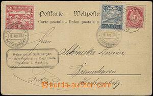 63587 - 1906 obrazová dopisnice zaslaná z německé polární expe