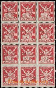63605 -  Pof.151A, 12-blok s TV bílé ruce, svěží