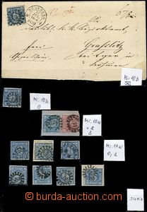 63653 - 1862 comp. of stamps Mi.10a,b (10 pcs of), solo, cut-squares