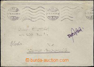 63660 - 1943 KT BUCHENWALD  dopis do KT, SR Prag 25/ 19.X.43, známk