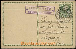 63683 - 1910 dopisnice 5H FJ, raz. poštovny LOUČKA (NOVÝ JIČÍN)