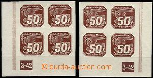 63715 - 1942 Pof.NV8 Novinové I.vydání, levý a pravý dolní roh