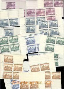 63735 - 1939 Pof.36-40 Krajinky I., miniatury s křížky, celkem 20