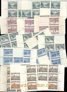 63736 - 1940 Pof.45-49 Krajinky II., miniatury s křížky a hvězdi