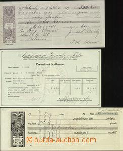 63737 - 1872-1938 FISKÁLNÍ CENINY  sestava faktur, účtů, směne