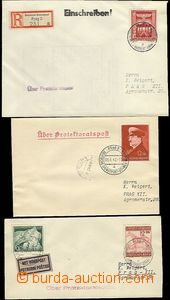 63754 - 1942-43 comp. 3 pcs of letters sent in the place by German S
