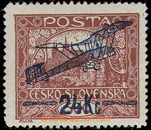 63829 - 1920 Pof.L2A, issue I, 24Kč/500h brown, bar type II., pos.