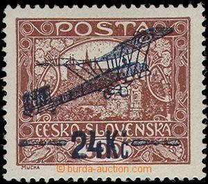 63831 - 1920 Pof.L2B, issue I, 24Kč/500h brown, IIa bar subtype, po
