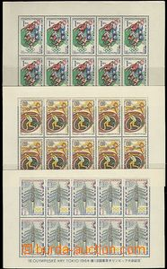 63838 - 1965 Pof.A1394-99, Summer Olympic Games Tokio, at value 1Kč