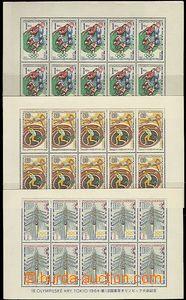 63838 - 1965 Pof.A1394-99, LOH Tokio, u hodnoty 1Kčs lehce omáčkl