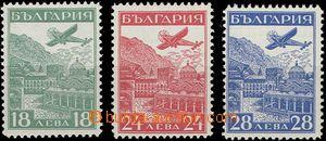63852 - 1932 Mi.249-51 Airmail, at value 28L very thin/light offset