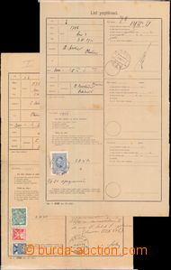 63868 - 1920-21 2x Poptávací list (tisk č. 438), směrované na p