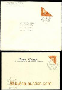 63872 - 1940-41 GUERNSEY  lístek a dopis, oba frankované půlenou