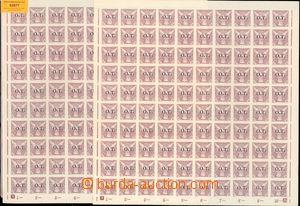 63877 - 1934 Pof.OT1, 2 pcs of complete 100-stamps sheets, c.v.. 600