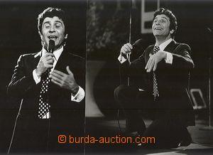 63904 - 1980? Bécaud Gilbert, comp. 5 pcs of photos 24x18cm (photo