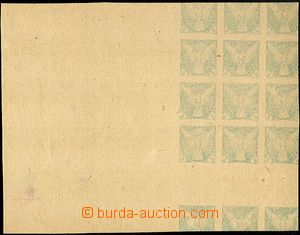 63950 - 1918 makulatura zn. Sokol  2h, obtisk svislého meziarší,