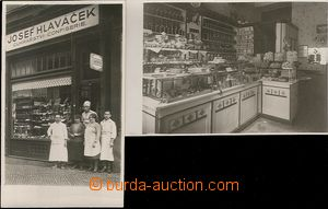 63964 - 1932 Prague VII., exterior and interior confectionery Joseph