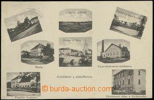 63969 - 1914 Jarošov nad Nežárkou -  B/W 8-views postcard, i.a. dair
