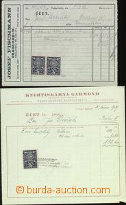 63977 - 1918-45 FISKÁLNÍ CENINY  sestava 135ks faktur, listin a do
